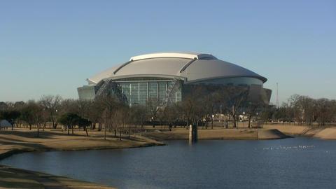 Dallas Cowboys Stadium In Arlington Texas stock footage