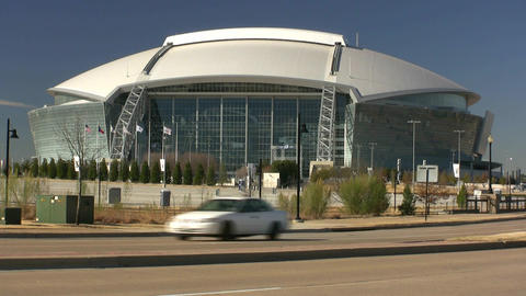 Dallas Cowboys Stadium View From Street Live Action
