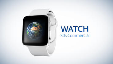 Watch 30s Commercial - Apple Motion Template stock footage