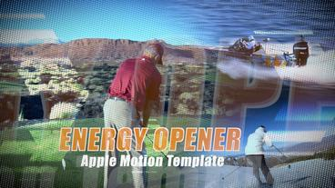 Energy Opener - Apple Motion and Final Cut Pro X Template Apple Motionテンプレート