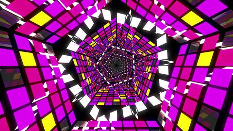 VJ Loop Pentagonal Tunnel 01 Animation