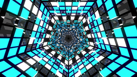VJ Loop Pentagonal Tunnel 03 Animation