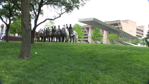 Dallas Mounted Police Horse Division Dallas Texas stock footage