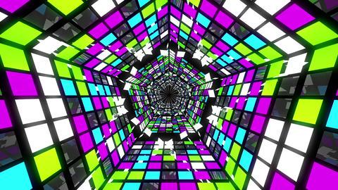 VJ Loop Pentagonal Tunnel 04 Animation