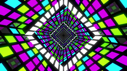 VJ Loop Square Tunnel 3 Animation