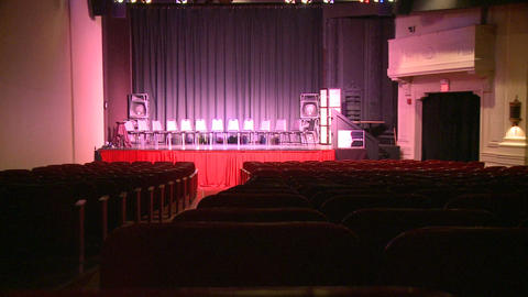 Stage and seating inside local theater (1 of 3) Footage