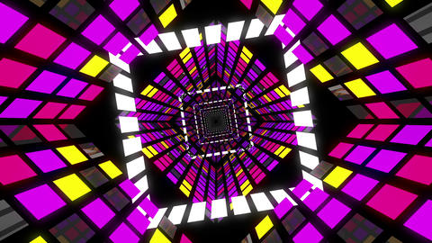 VJ Loop Square Tunnel 4 Animation