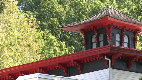Oriental Looking Cupola On Top Of A Building stock footage
