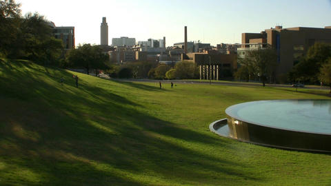 Water Fountain At LBJ Library In Austin Texas stock footage