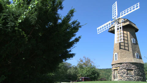 Large stone windmill (1 of 3) Footage