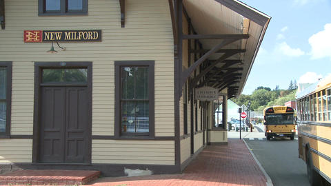 New Milford Town Building (1 Of 3) stock footage