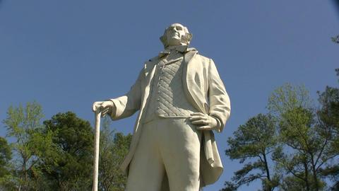 Sam Houston Statue In Huntsville Texas Footage