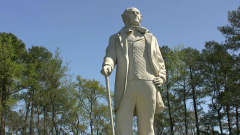 Sam Houston Statue Huntsville Texas Footage