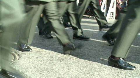 Marching in Uniforms Footage