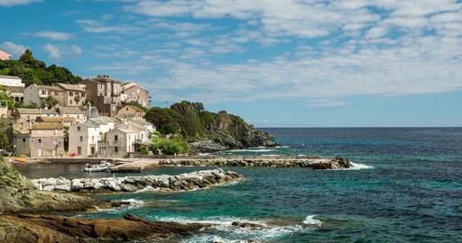 4K, Timelapse, Marine de Pietracorbara, Corsica, France Footage