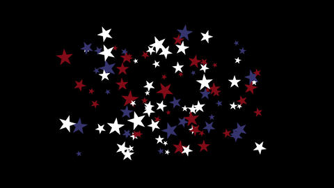 4k Stars particle background,USA United States American flag five-pointed star Live Action