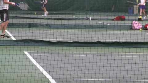Girls tennis practice (3 of 6) Footage