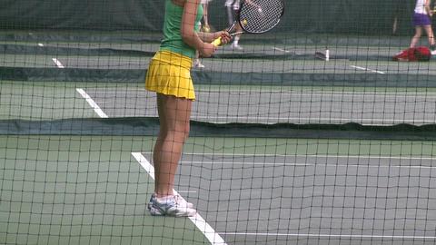 Girls tennis practice (1 of 6) Footage