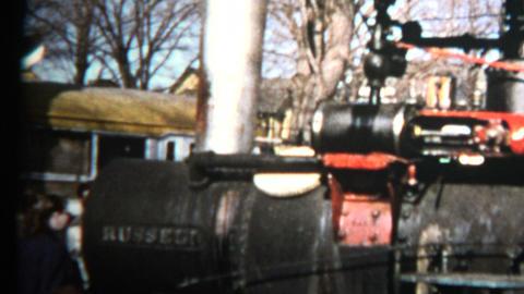 1957 - Locomotive Train Engine Public Exhibit Footage