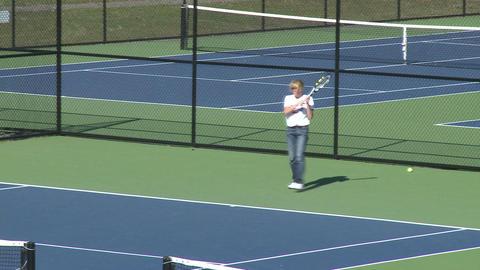 Woman enjoying tennis (1 of 1) Footage