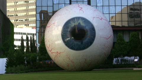 Giant Eyeball Up Close stock footage