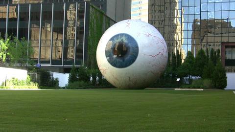 Giant Eye In Dallas Texas stock footage