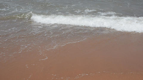 Waves On The Sea Shore stock footage