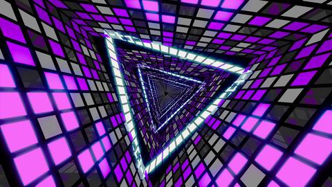 VJ Loop Violet Cold Tunnel Animation