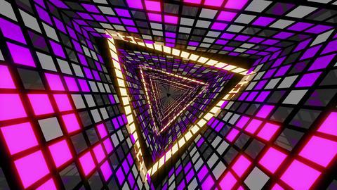 VJ Loop Violet Gold Tunnel Animation