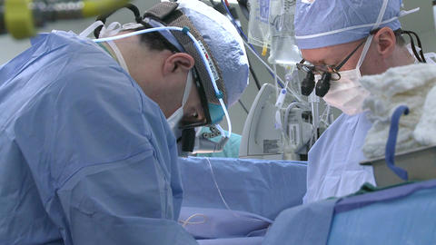 Doctors In Operating Room stock footage