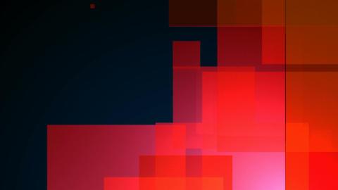 glossy red blocks Animation