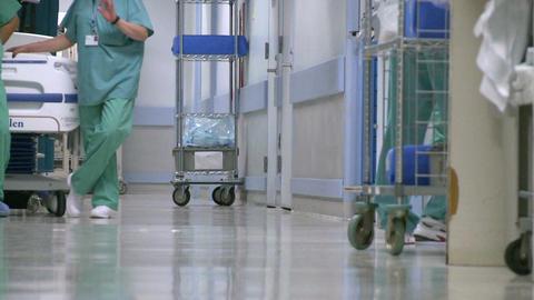 Medical staff in hospital hallway (4 of 5) Footage