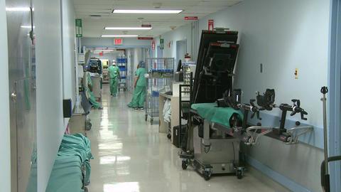 Hospital hallway Footage
