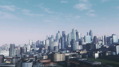 Abstract cityscape at daytime panorama Live Action