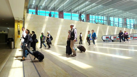 Ben Gurion International Airport stock footage