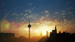 City Sunrise stock footage