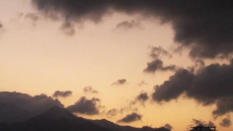 Clouds and Sunset Time Lapse ビデオ