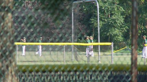 Baseball team warming up (1 of 2) Footage