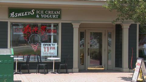 Ashley's Ice Cream shop in Village Footage