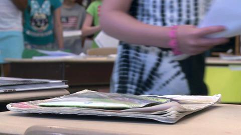 School children doing classwork (3 of 8) Footage