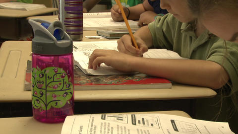 School children doing classwork (7 of 8) Footage