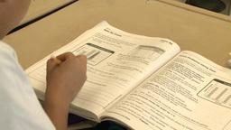 School children doing classwork (2 of 8) Footage