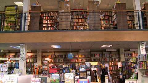 Inside a good bookstore (3 of 3) Footage