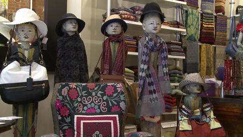 Mannequins in a boutique Footage