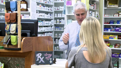 Woman at the pharmacy (1 of 1) Footage