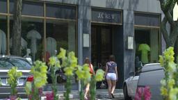 Teenage girls window shopping Footage