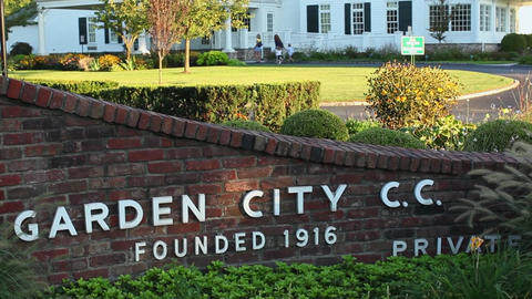Garden City Country Club Sign (1 Of 2) stock footage