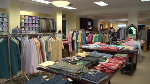 Inside a clothing boutique (1 of 2) Footage