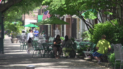 Diners at outdoor table Footage