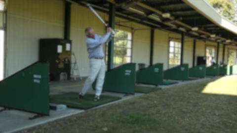 Man at the driving range (7 of 7) Footage